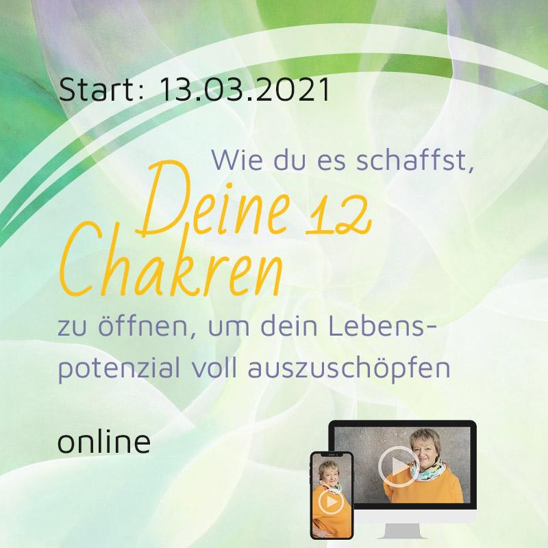 NEU | Online-Seminar: Wie du es schaffst, deine 12 Chakren zu öffnen, um dein Lebenspotenzial voll auszuschöpfen